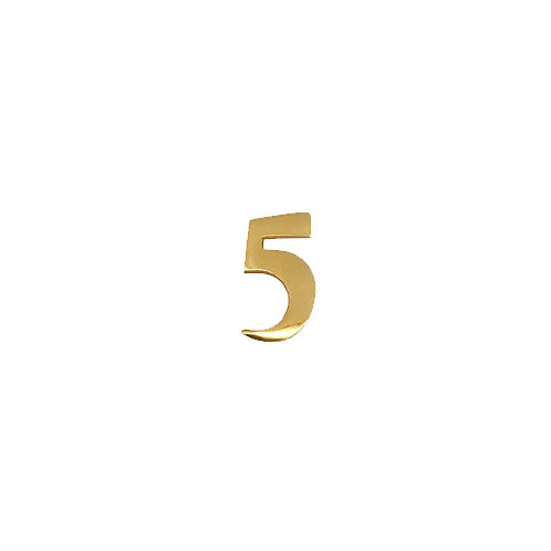 """#5 Self-Adhesive 2"""" inch Brass Number"""