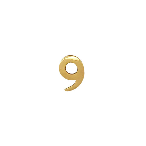 """#9 Self-Adhesive 2"""" inch Brass Number"""