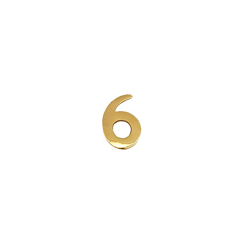 """#6 Self-Adhesive 2"""" inch Brass Number"""