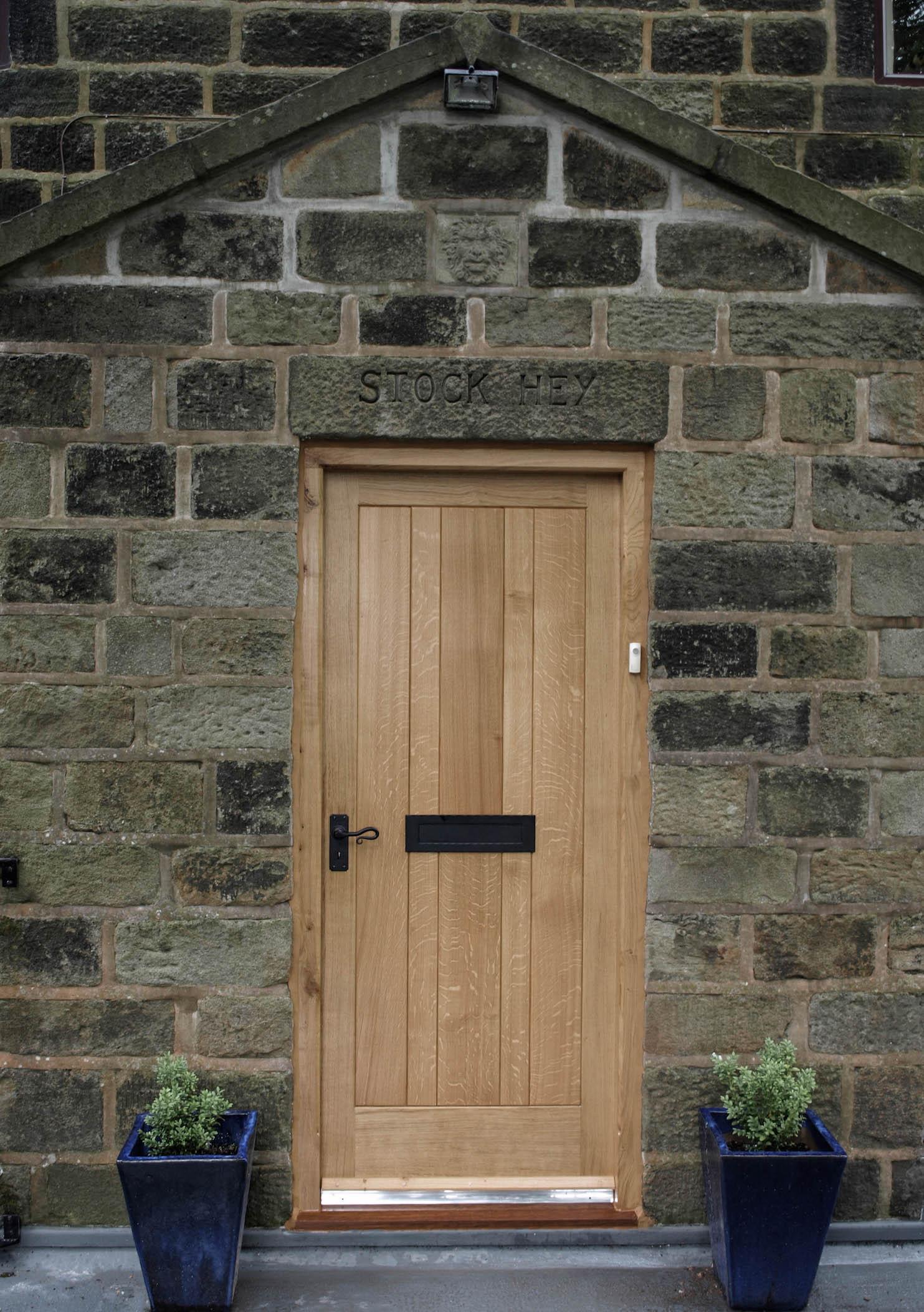 Oak Door Variable Width Planks