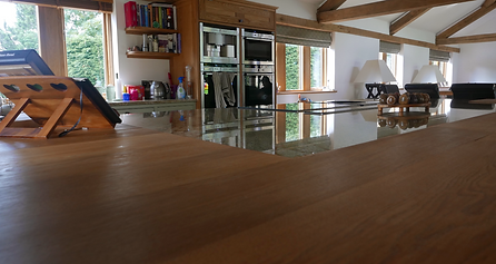 Wide Stave Solid Oak Worktop