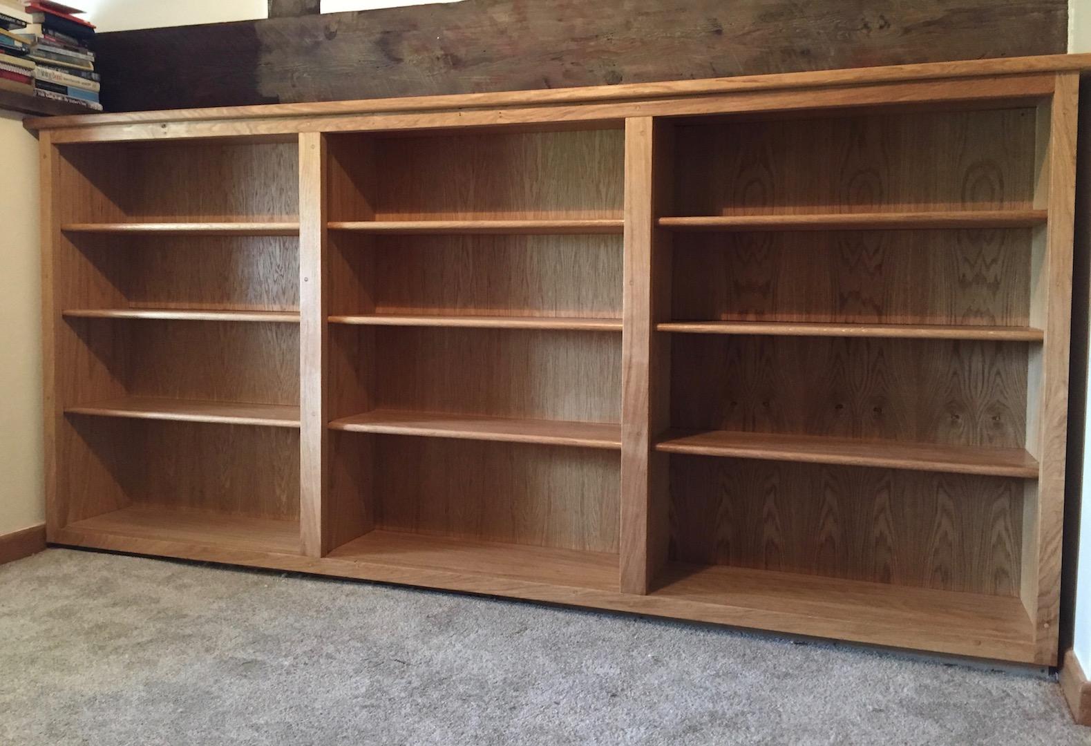 Oak Bookcase Low