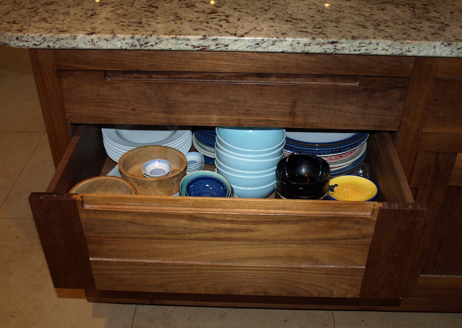 Walnut Kitchen Drawer