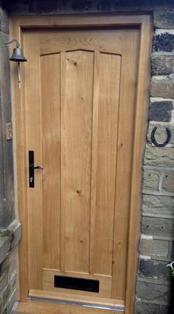Panelled Oak Door with Detail Top