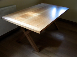 Contemporary Oak Table Top View