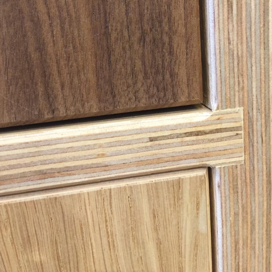 Walnut, Oak, Ply Detail