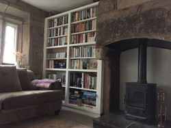 Fitted Painted Bookcase