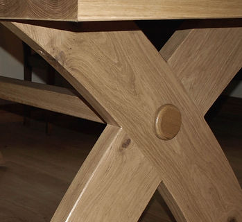 Handmade Table - Curved Cross Legs