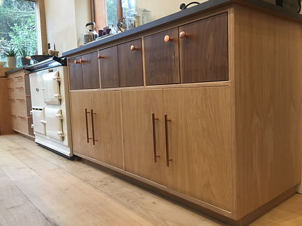 Scandi Inspired Kitchen Birch Plywood Walnut Oak