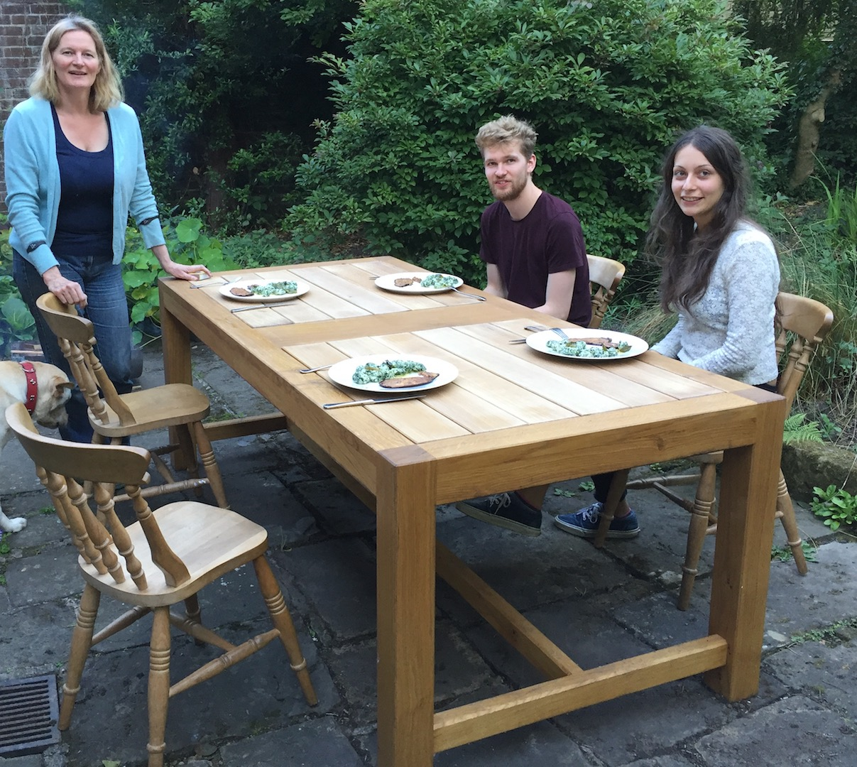 Large Oak Garden Table