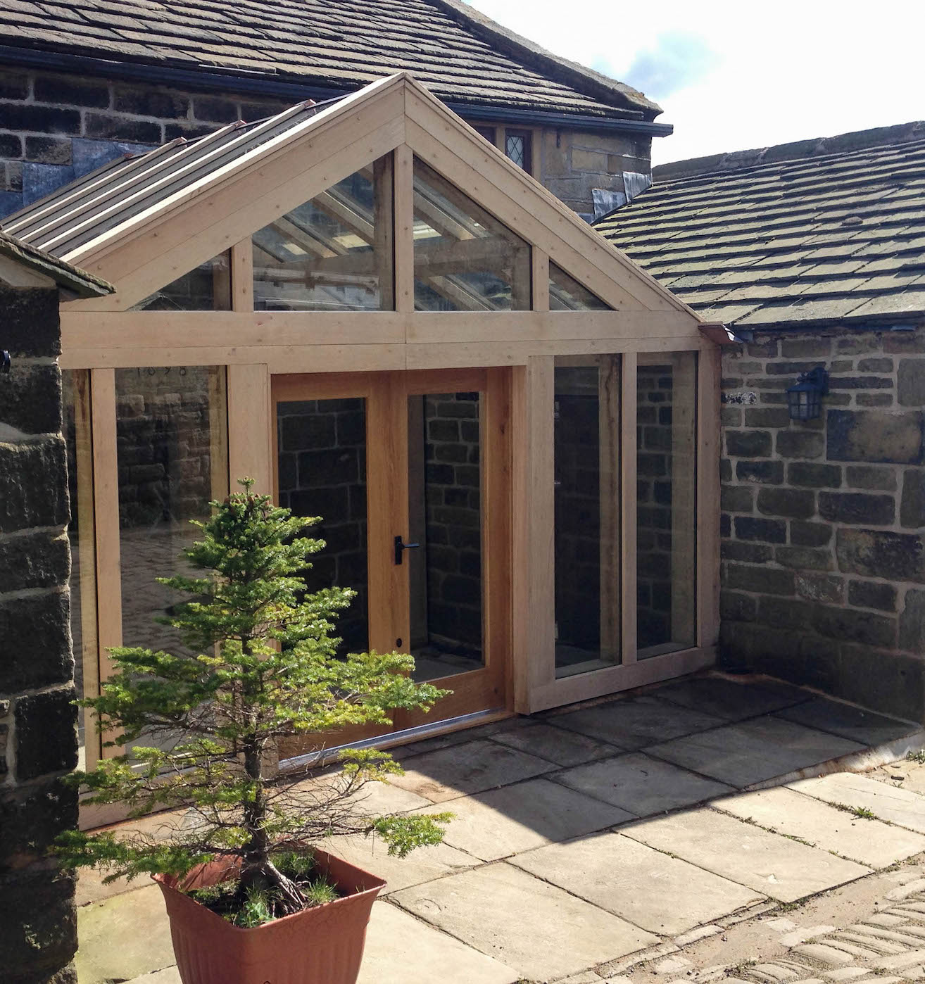 Oak Framed Entrance