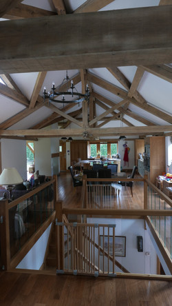 Open Plan Kitchen with Oak Staircase