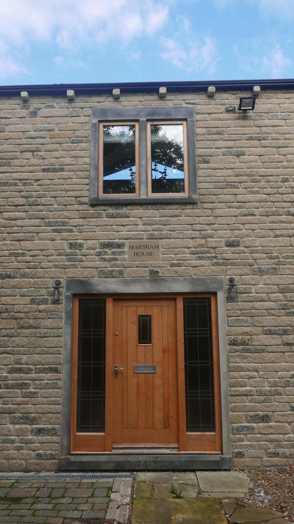 Large Oak Entrance Door and Frame