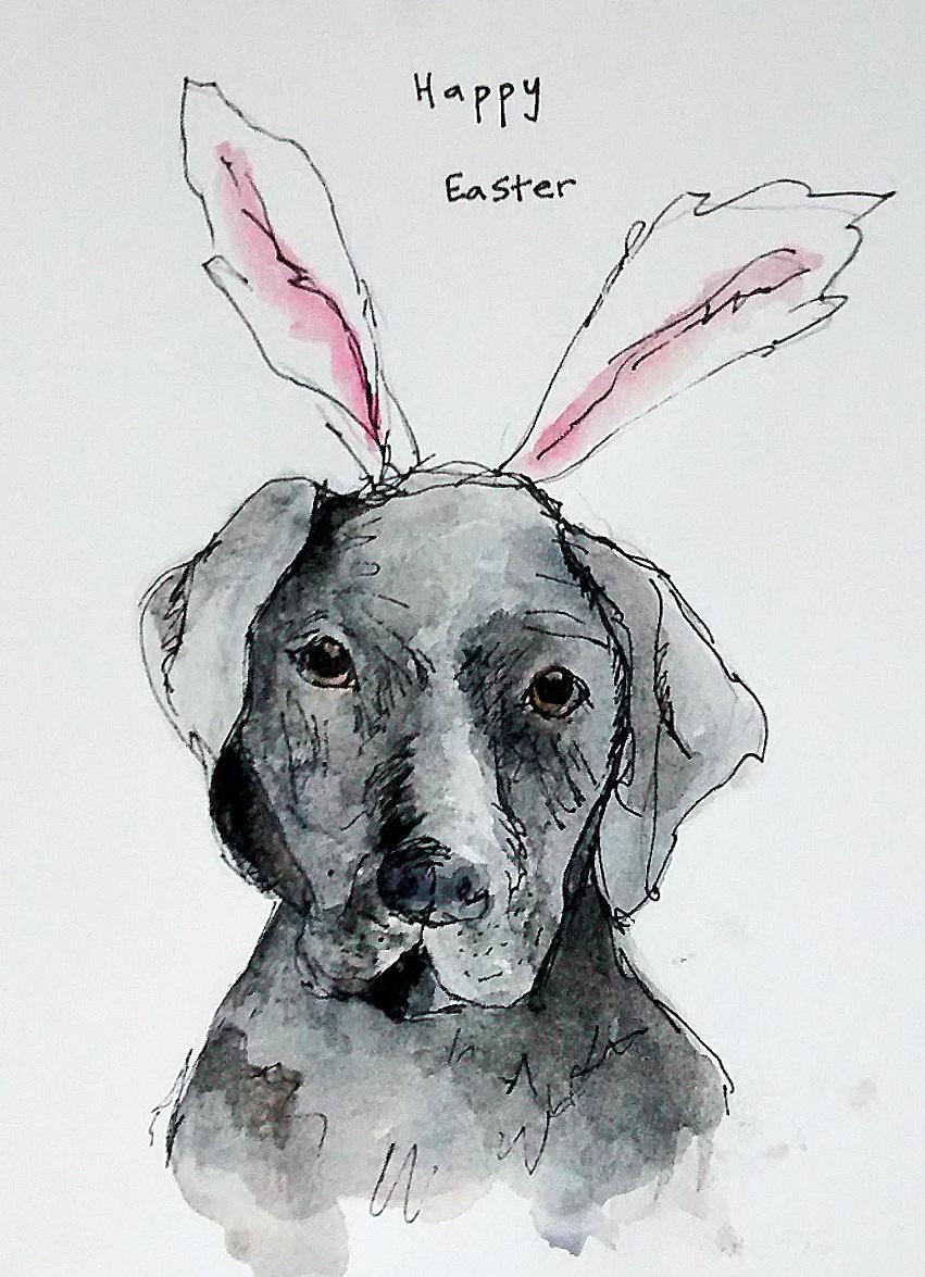 Easter labrador