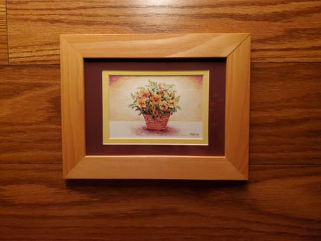 Basket of Yellow Pansies