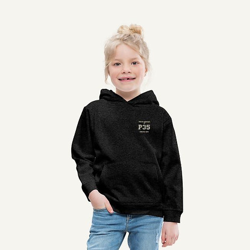 Premium Hoodie Children - P35 Sports Logo WHT