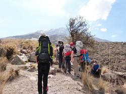 trailhead of the misti volcano