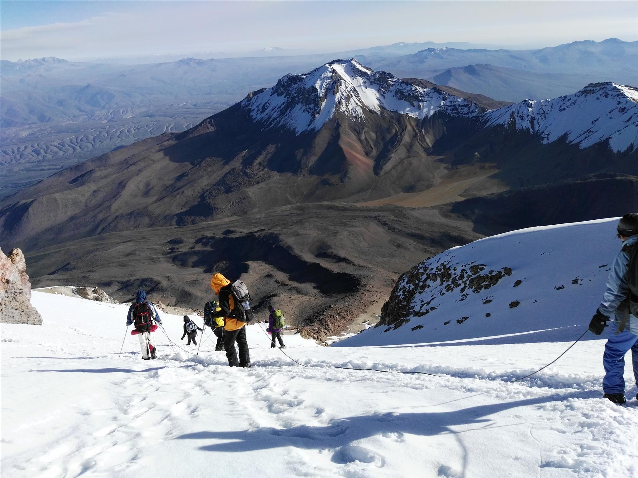 summiting the chachani volcano