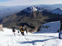 summiting the chachani volcano