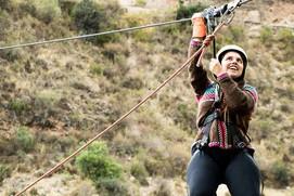 Ziplining at the Cusipata River Lodge