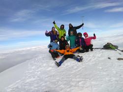 summit of the chachani volcano