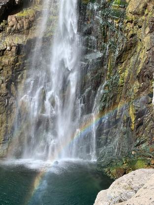 Paccha Waterfall rainbow