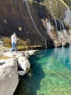 Fishing at the Paccha Waterfall