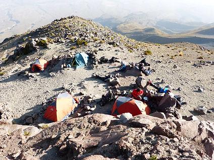 the Cachani Volcano basecamp