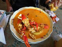 chupe de camarones in Majes