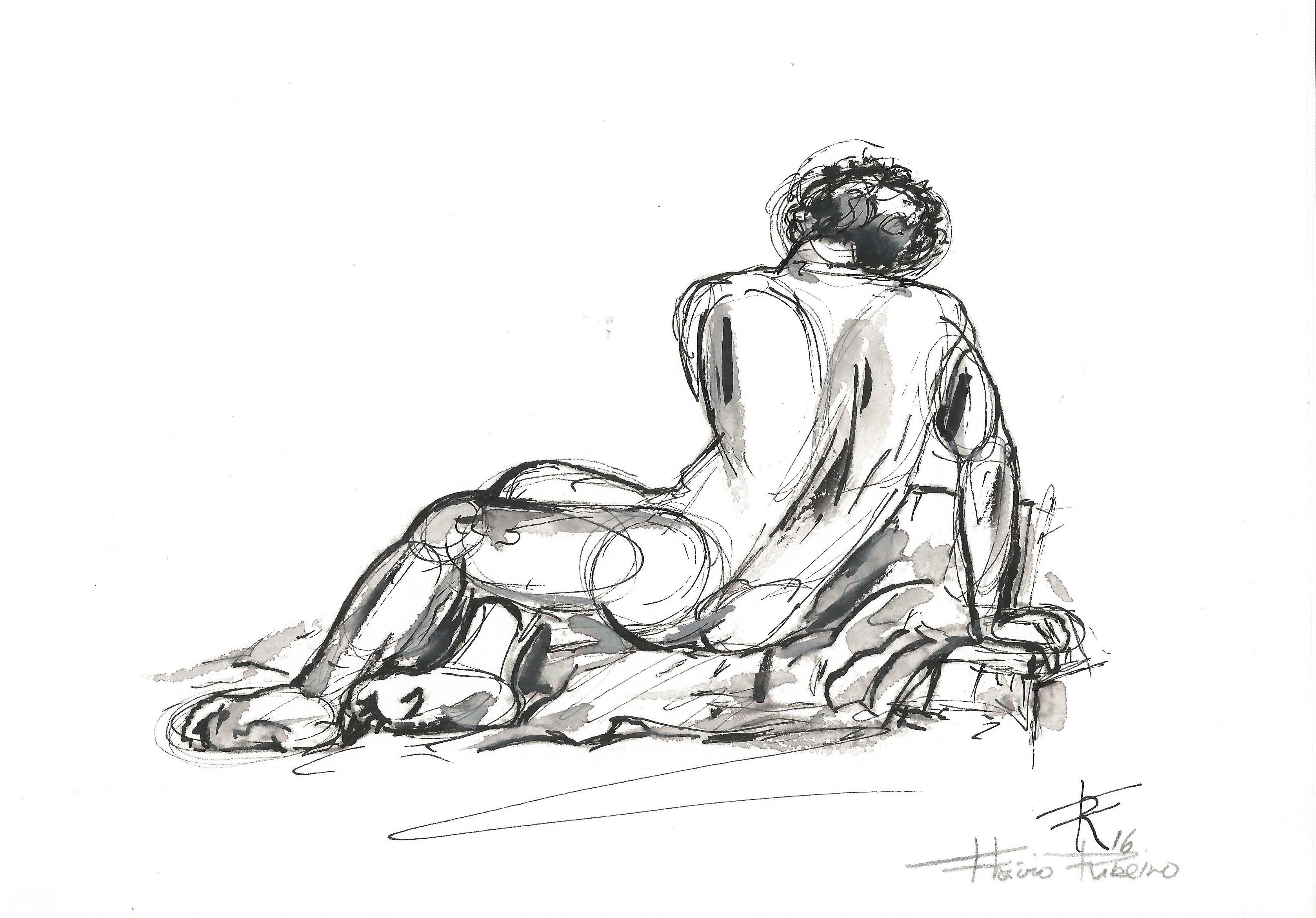 Croqui figura humana masculina 3