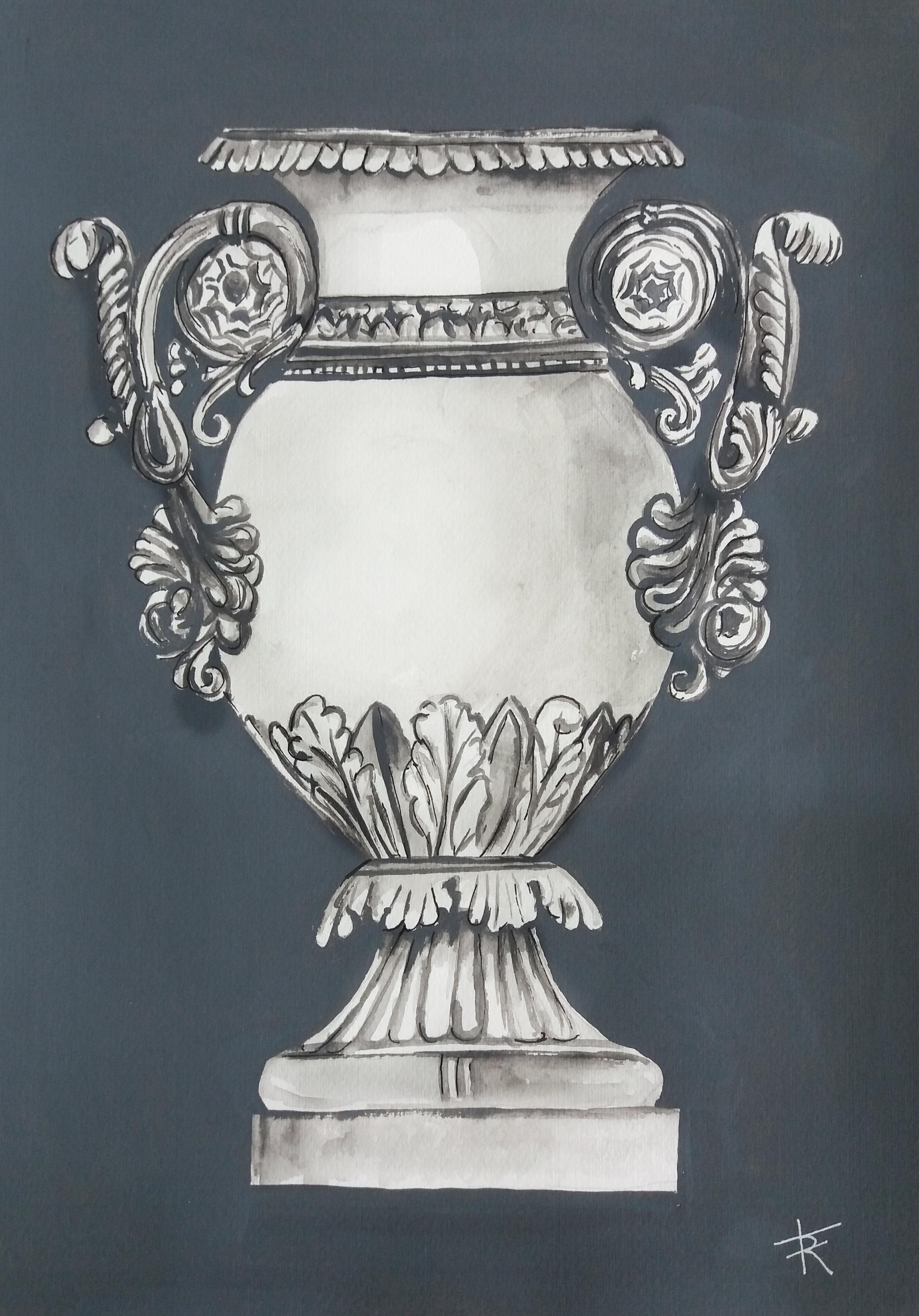 vaso em guache