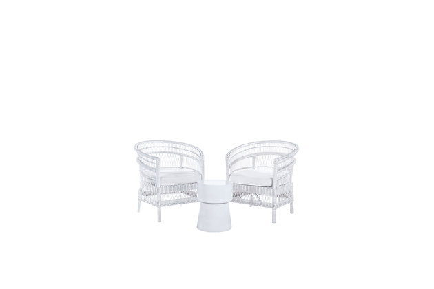 Anya White Armchair Set