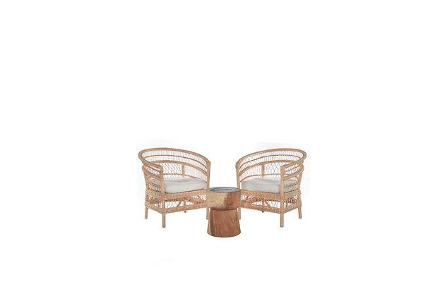Anya Natural Armchair Set