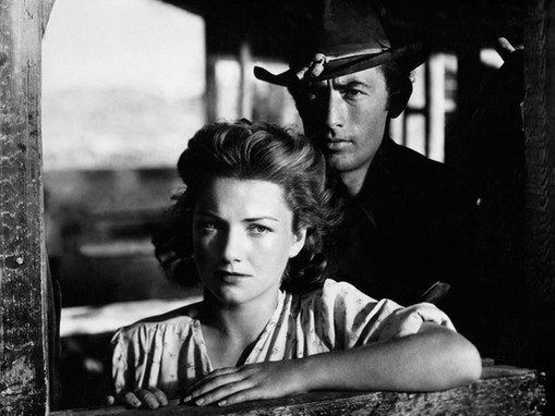 Anne Baxter with Gregory Peck