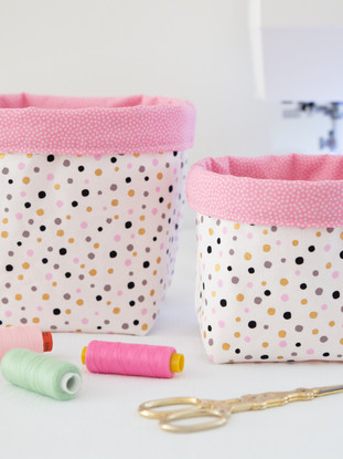 Fabric Storage Basket PDF Sewing Pattern