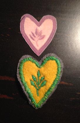 Virginia Laurel Brigade Heart Insignia