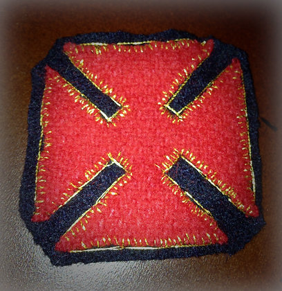 19th Corps Badge with Border 1864 version