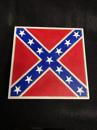 Wood Cut Confederate Battle Flag