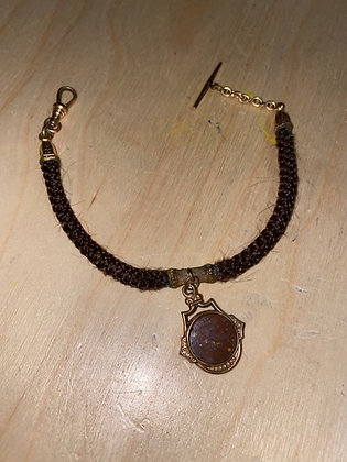 Original Hair Watch Chain with Fob