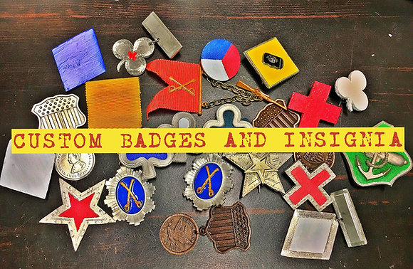 Custom Metal Corps Badges and Insignia