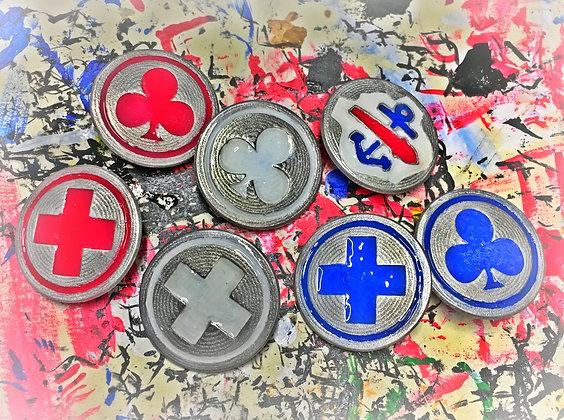 Enamel Corps Badges