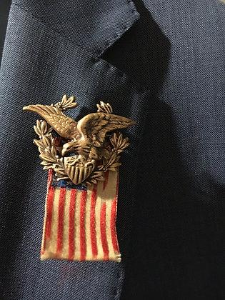 Spanish War Veteran Eagle Pin