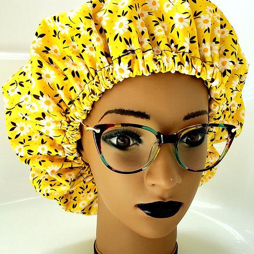 Zinnia Shower Bonnet - extra large Adult Shower Cap