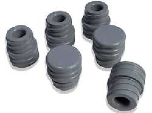 Gray Rubber Injection Port Stopper PLug