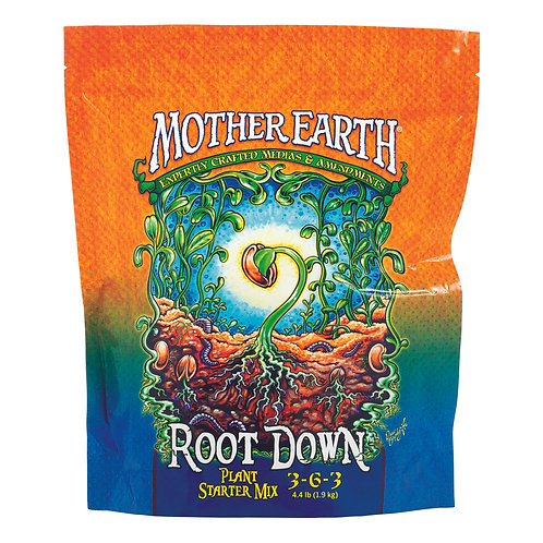Mother Earth Root Down Plant Starter Mix 3-6-3 4.4LB