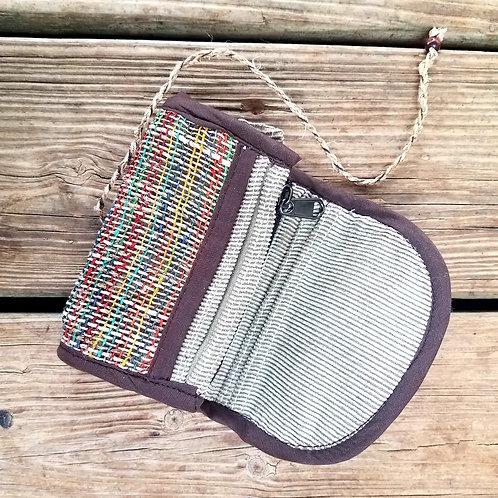 Handwoven Multi-Color Hemp Wallet