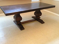 7 FT Trestle Dining Table - Color of you Choice