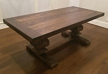 7 FT Trestle Dining Table with Bread Board Top - Color of you Choice
