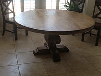 "60""  Trestle Round Dining Table - Color of your Choice"