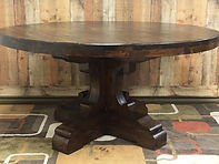 "60"" Round table Color Dark Walnut"